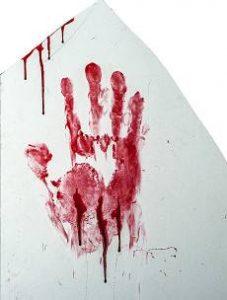 huella sangre
